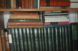 classics with green and gold binding