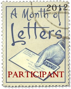 A Month of Letters Partcipants' badge