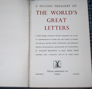Title page of The World's Great Letters