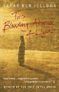 Cover of This Blinding Absence of Light with a figure in desert landscape.