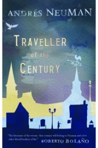 Cover of Traveller of the Century with silhouette of town