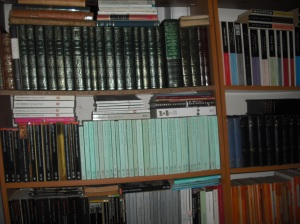 shelves of classics