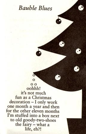 Bauble Blues concrete poem