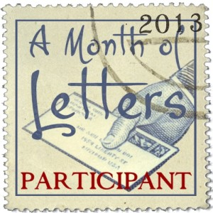 A Month of Letters badge