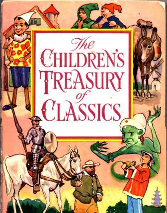 book cover with Aladdin, Pinoccio, Don Quixote