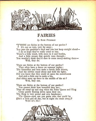 text of Rose Fylman's poem Fairies