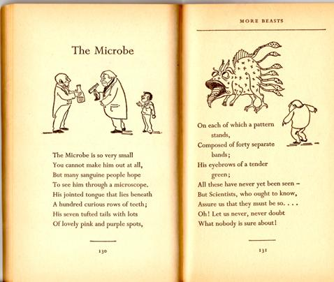 text and illustration of poem The Microbe