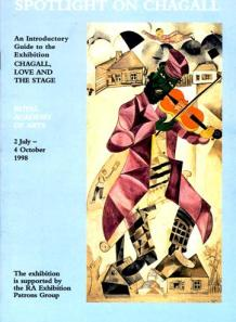Catalogue for Marc Chagall exhibition