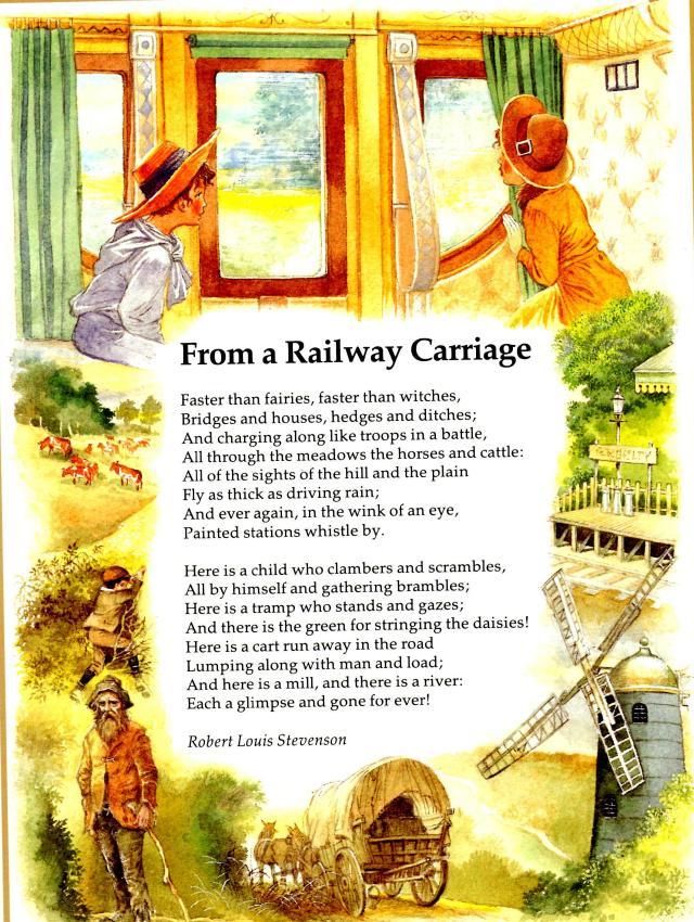 Text of Stevenson's Poem from a railway carriage