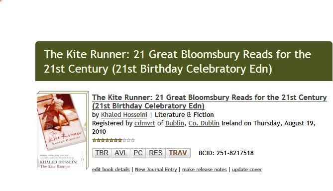 Release notes for The Kite Runner