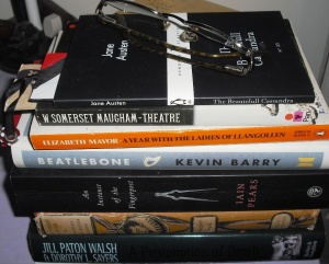 TBR Pile Bedside Table