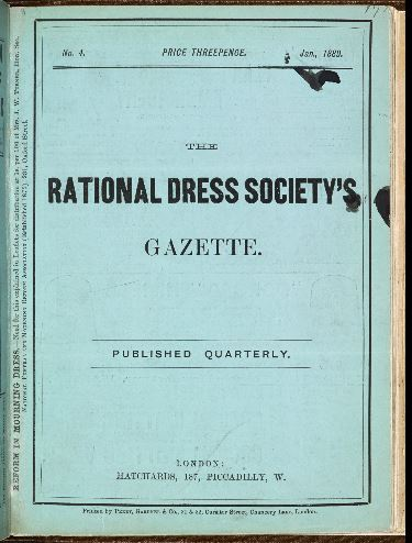 Cover of The Rational Dress Society magazine