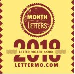 Month of Letters yellow logo