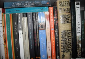 Part of the fiction bookshelf