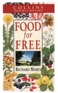 Front over of the 1992 edition of Food for Free showing a variety of plants.