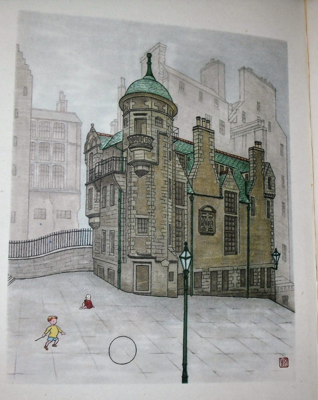 Painting of Lady Stair's House, Edinburgh