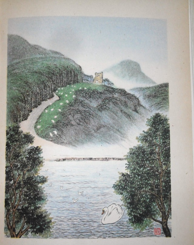 Painting of St Anthony's Chapel & St Margaret's Loch